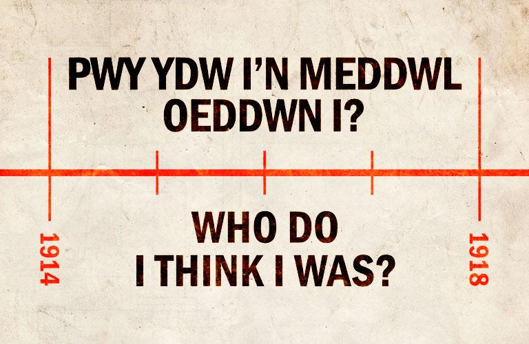Pwy Ydw I'n Meddwl Oeddwn I