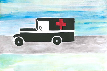 Ambulance Papercutting